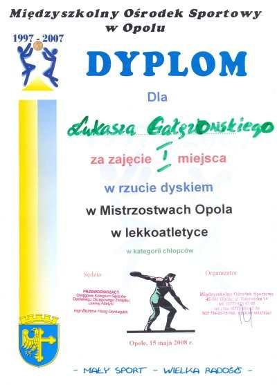 Dla Łukasza Gałęzowskiego