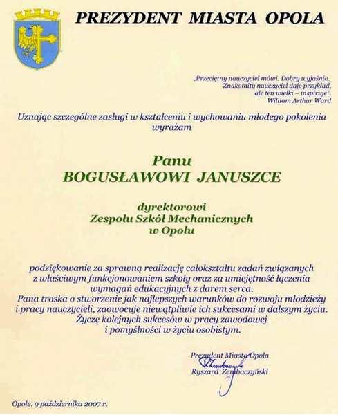 Dyplom Dyrektora